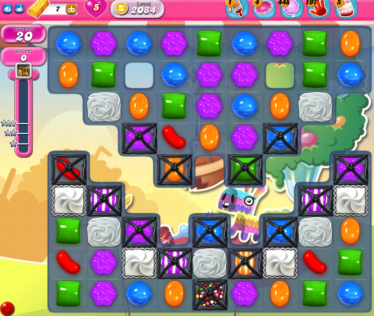 Candy Crush Saga level 2084