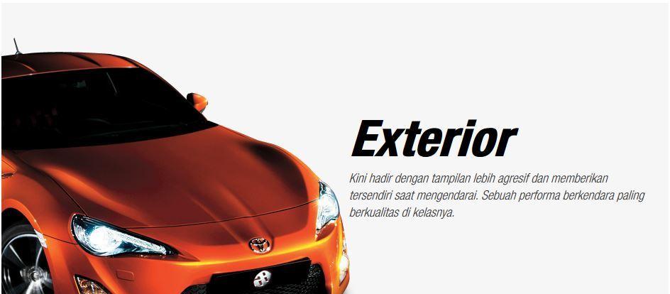 Harga Brosur Promo Kredit Warna Fitur Interior Eksterior Spesifikasi Mobil TOYOTA 86 Terbaru 2018 Nasmoco Wilayah Banda Aceh, Medan, Sumatra Utara