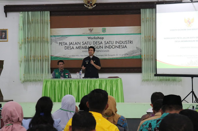 Komite Ekonomi dan Industri Nasional Dorong Tumbuhnya Satu Desa Satu Industri di Kabupaten Trenggalek