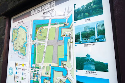 The map of Imperial Palace Japan