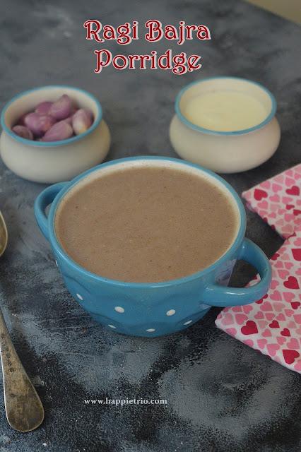 Ragi Bajra Porridge Recipe | Ragi Kambu Koozh | Finger Millet Bajra Savory Porridge