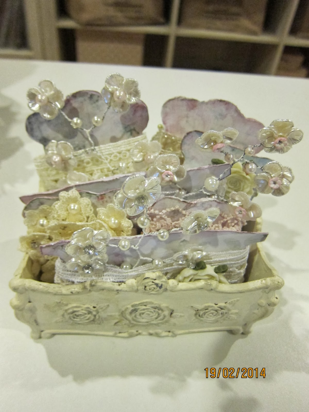 MsGardenGrove1: Shabby Chic Project-Altered boot/Lace box