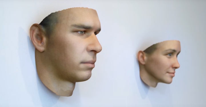Artista crea máscaras de humanos realista basadas en el ADN encontrado en los cigarrillos y chicles desechados