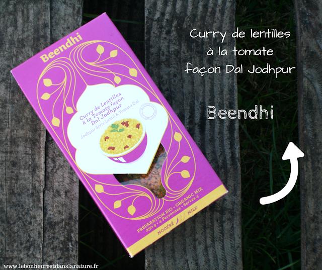 Curry de lentilles à la tomate façon Dal Jodhpur Beendhi