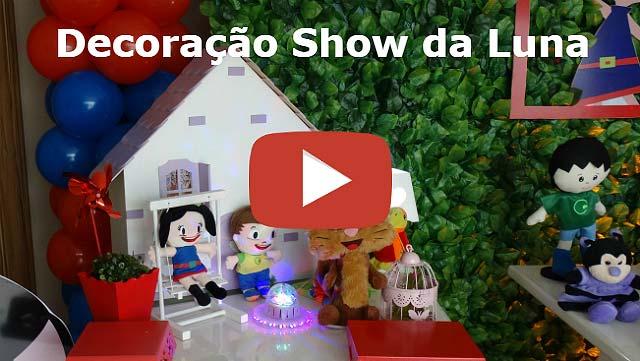 Decoração festa de aniversário infantil tema Show da Luna - Mesa provençal
