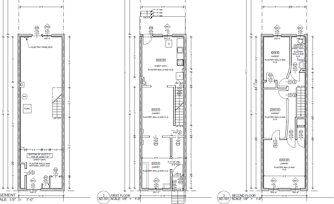 TwoStory PlansNarrow - 40+ Small Row House Plan Design Images