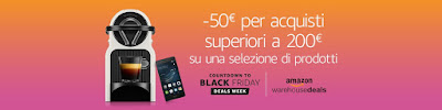 50 Euro di Sconto su una spesa di 200 Euro. Offerta Black Friday di Amazon