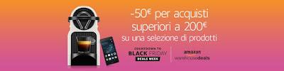 50 Euro di Sconto su una spesa di 200 Euro. Offerta Black Friday di Amazon