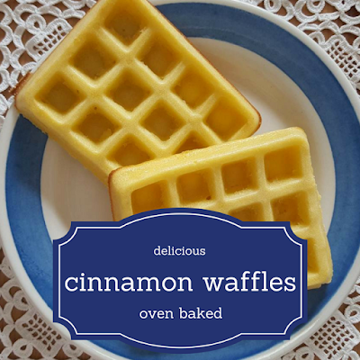Oven baked cinnamon waffles recipe