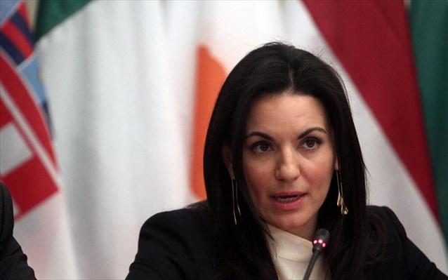Η Όλγα Κεφαλογιάννη στη Νεμέα για την κοπή της πρωτοχρονιάτικης πίτας της Τ.Ο. ΝΔ Νεμέας