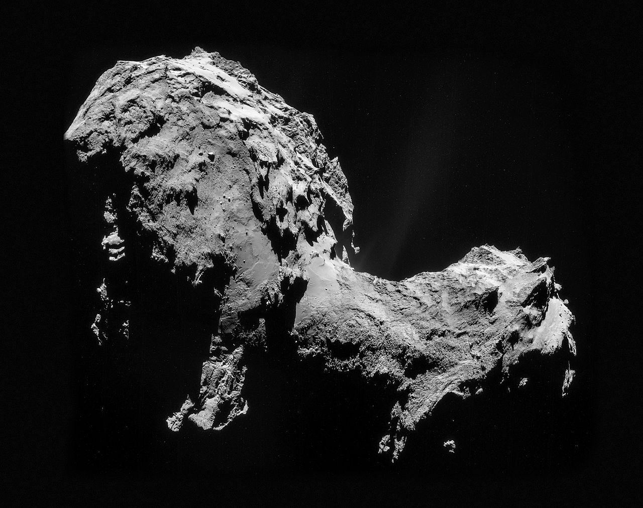 Hình ảnh về sao chổi 67P/Churyumov-Gerasimenko được chụp vào ngày 19/9/2014 vừa qua bởi Nhóm nghiên cứu sứ mệnh Rosetta thuộc Cơ quan Hàng không Âu châu.