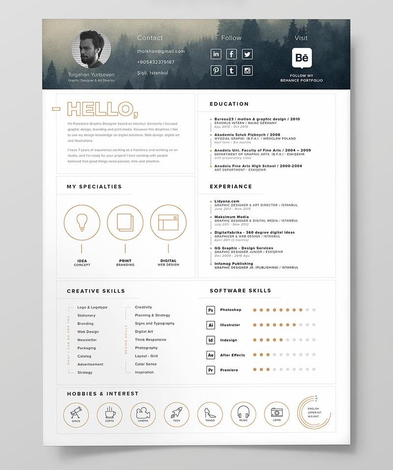 Template Resume CV 2018 - FREE Resume Template & Resume Icons