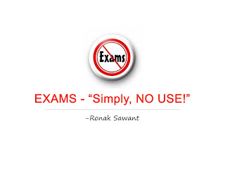 "Cover Photo: EXAMS - ""Simply, NO USE!"" - Ronak Sawant"