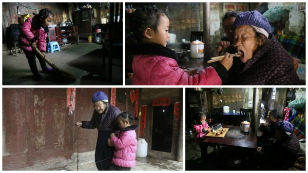 5-year-old girl takes sole care of grandma China