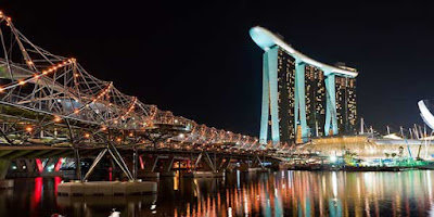 Helix Bridge, Tempat Wisata di Singapura keren unik, bukusemu