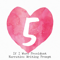 If I Were President Narrative Writing Prompt encourages students to brainstorm what they would do first, then, next, and last.
