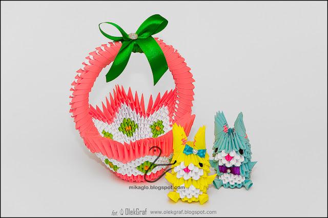 395. Świąteczne prace / 3d origami easter works