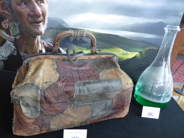 BFG giant leather bag bottle film props