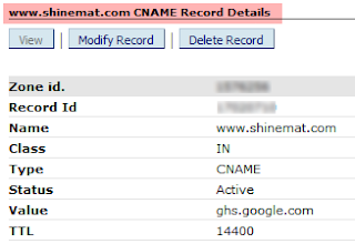 Custom Domain CNAME Record Example