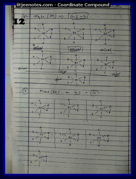 Co-Ordinate Compound CHEMISTRY2