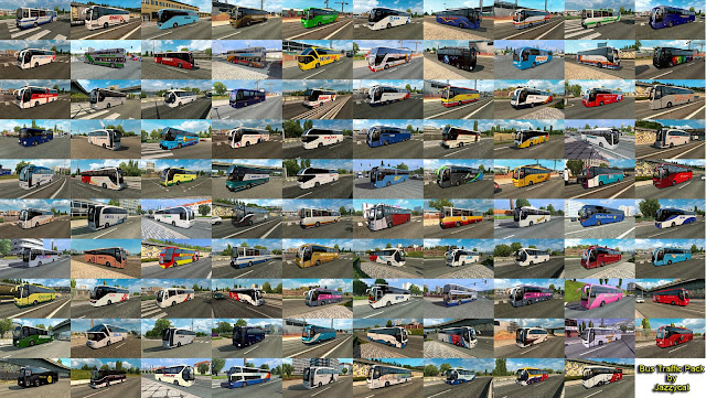 ets 2 bus traffic pack v6.0 by jazzycat screenshots 3
