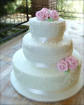 wedding cake verde chiaro decorazione Perle Tiffany