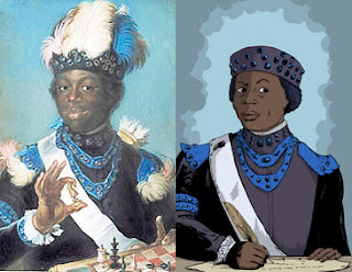 Compare Gustaf Lundberg's original to Eric Basir's reimagined portrait