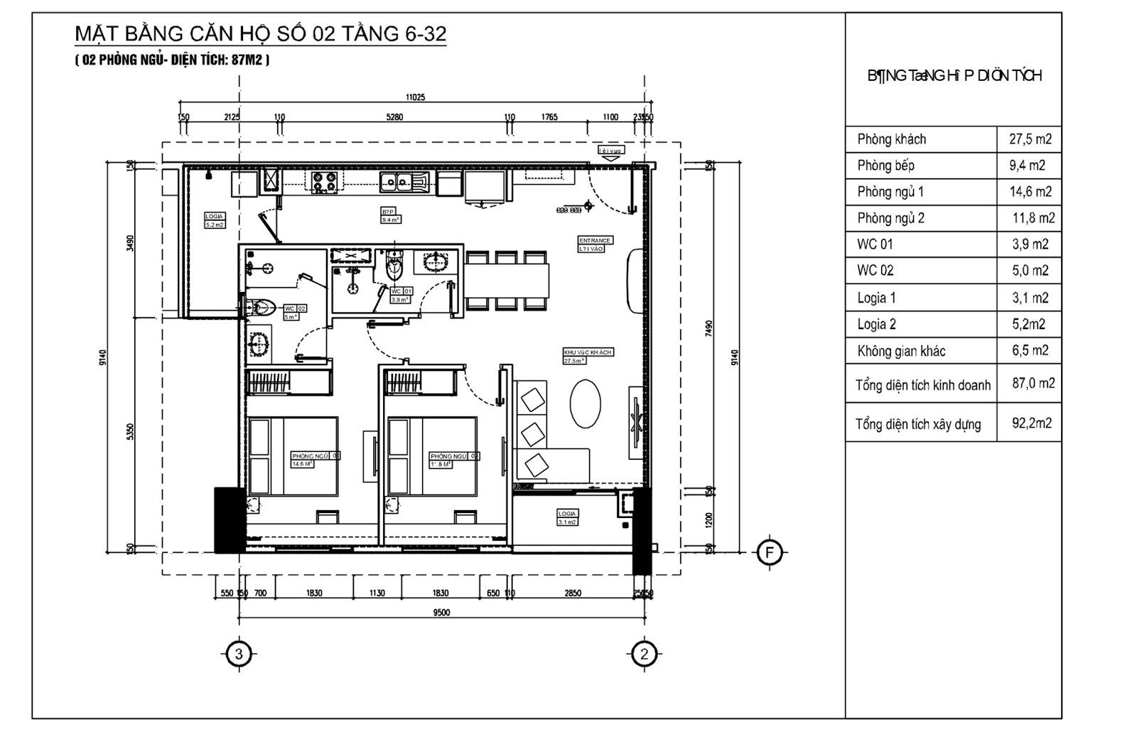 Thiết kế căn 02 chung cư Phú Mỹ Complex - N01T4 Ngoại Giao Đoàn