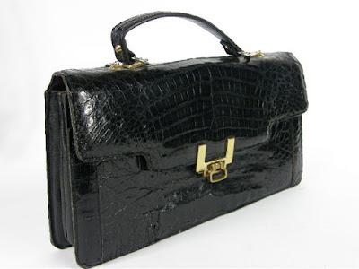 black vintage leather bag fashion blog netstylistka retro torebka skórzana