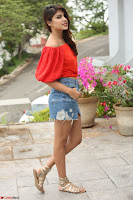 Rhea Chakraborty in Red Crop Top and Denim Shorts Spicy Pics ~  Exclusive 120.JPG