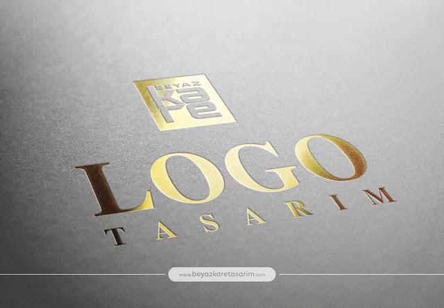 3D logo tasarımı kağıt gold