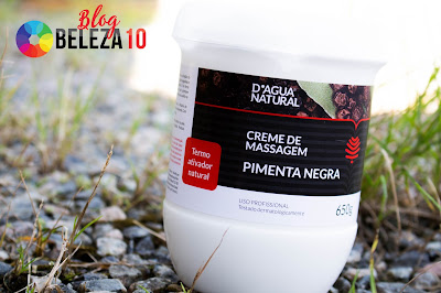 SORTEIO CREME DE MASSAGEM PIMENTA NEGRA D'ÁGUA NATURAL