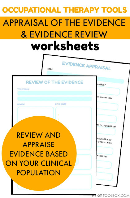 Appraisal and Evidence Review Worksheets