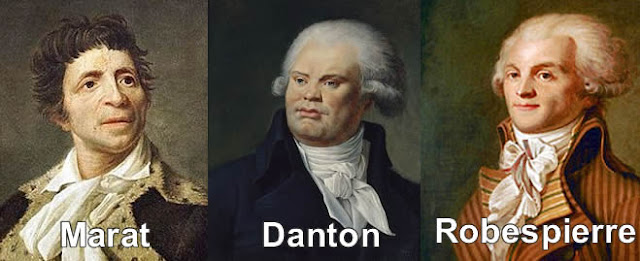 revolucion, francesa, danton, robespierre, marat, lideres