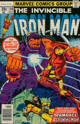 Iron Man #108, the Growing Man