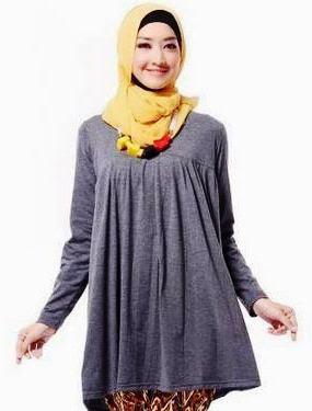 contoh atasan hijab busana muslim wanita