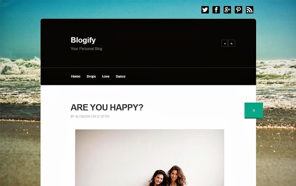 Blogify Responsive Blogger Template