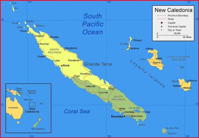 Gambar Peta Kaledonia Baru