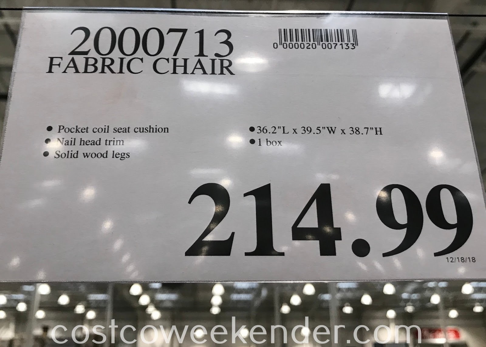 Deal for the Fabric Chair at Costco