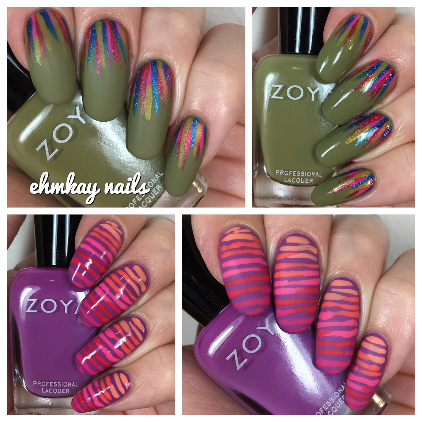 ehmkay nails: Zoya Wanderlust Collection, Line and Stripes Nail Art