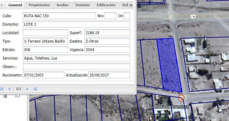 VENDO LOTE DE 2000 M2 EN RODEO - IGLESIA - PROVINCIA DE SAN JUAN - ARGENTINA