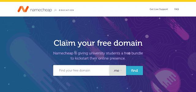 Gratis Domain .Me dan SSL dari NameCheap