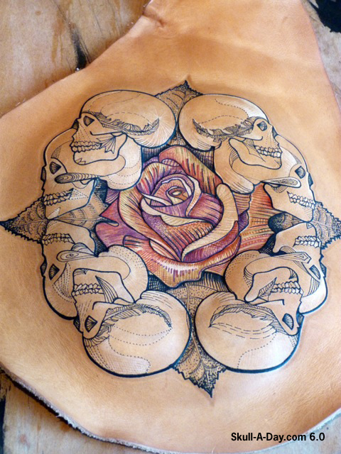 Tattooed leather skulls for Cheap tattoos las vegas