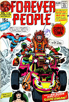 Forever People v1 #1 dc 1970s bronze age comic book cover art by Jack Kirby