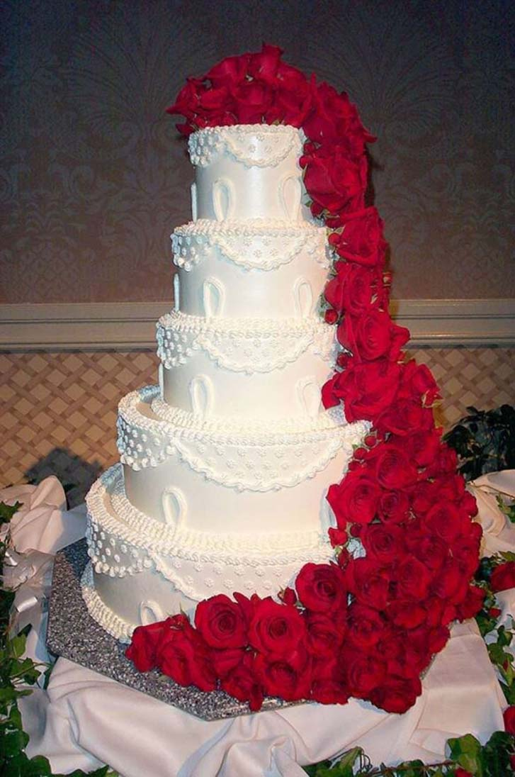 Red And White Wedding Cakes 59 Stunning Christmas Wedding Cakes Christmas