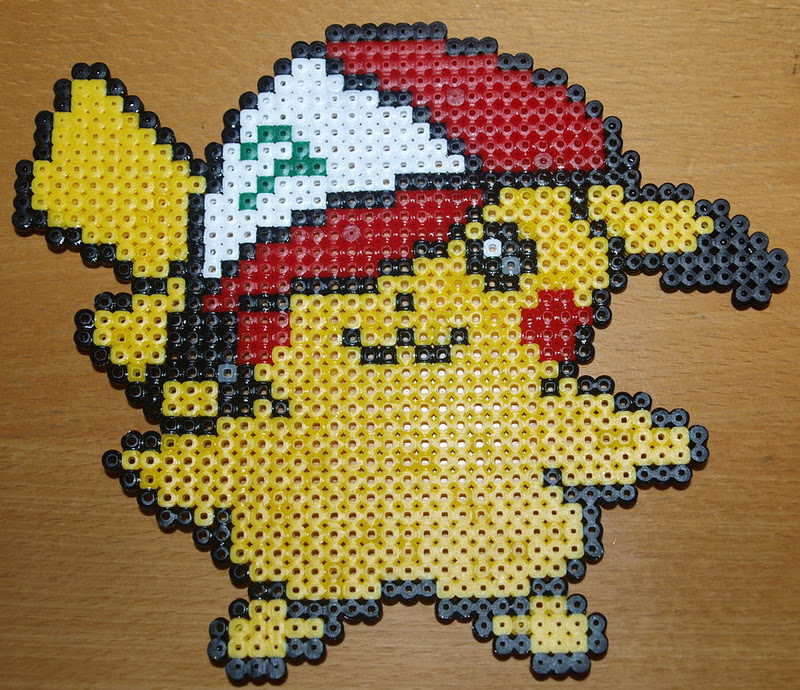 Heart Hama Beads Pikachu With Ash S Caps