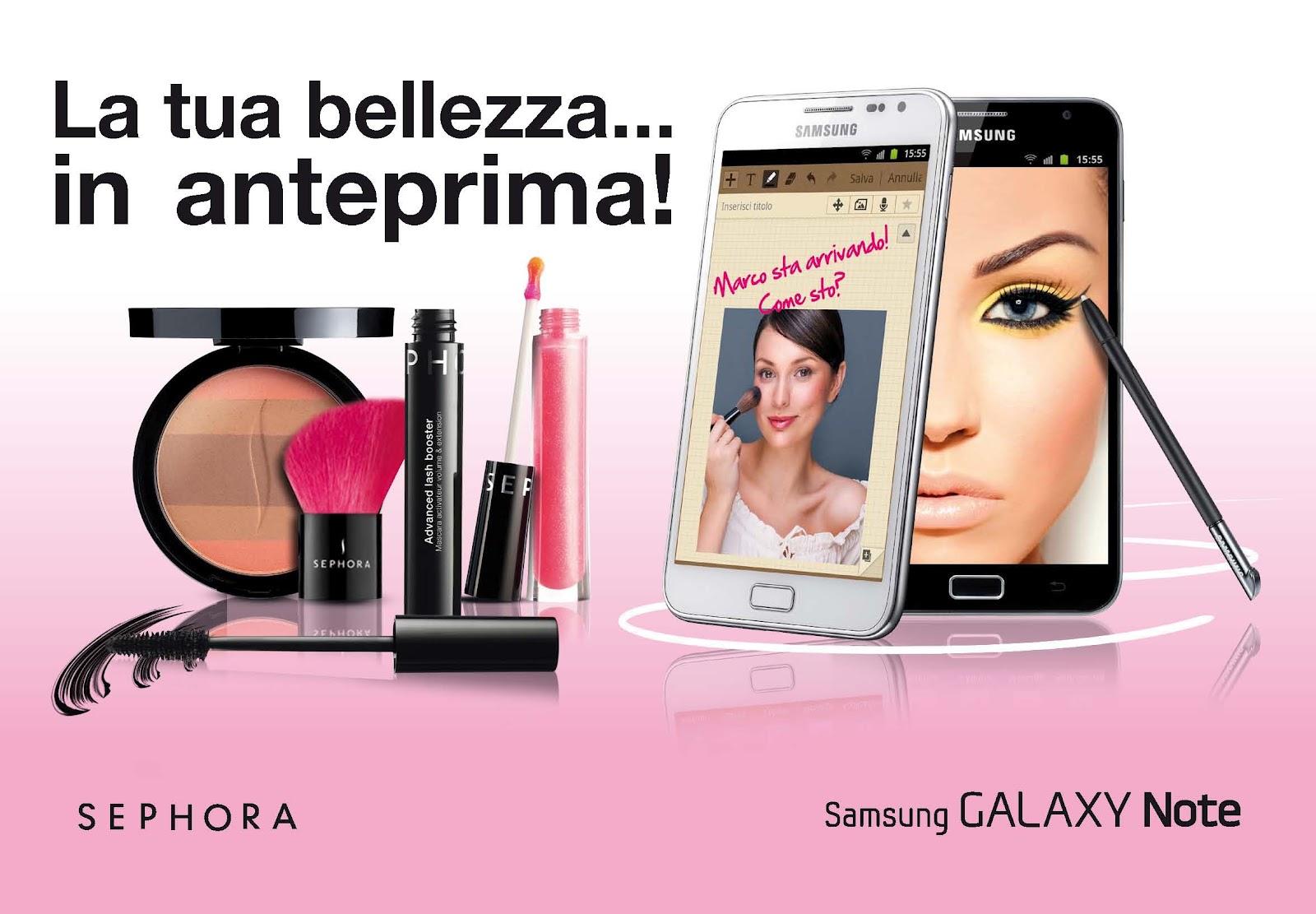 Il make up dall anima digitale in tour con Samsung 0ef6b921b48