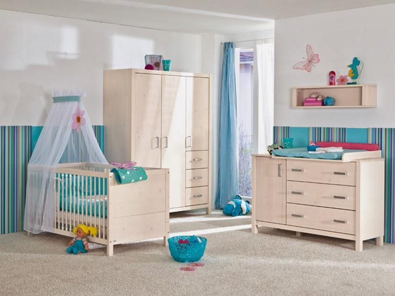 Dormitorios para beb en blanco y turquesa dormitorios - Dormitorios de bebes recien nacidos ...