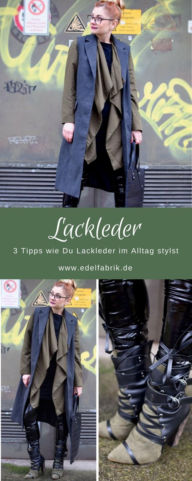 Lackleder in Alltag, Modeblog, Fashionblog