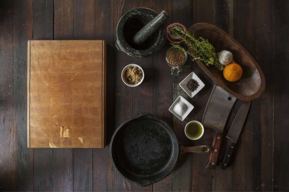 food kitchen cutting board cooking